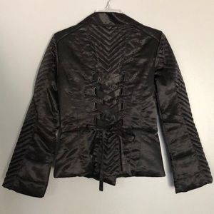 NWOT satin Bebe corset jacket